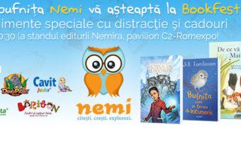 Pe 1 iunie, bufnita Nemi va asteapta la Bookfest