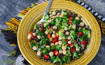 Salata de linte neagra cu naut
