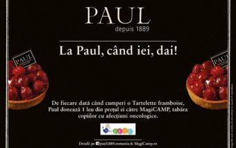Cumpara o tarta cu zmeura de la Paul si ofera zambete copiilor din MagiCAMP