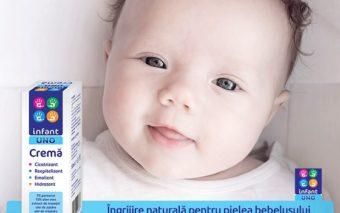 Infant UNO Crema - ingrijire naturala pentru pielea bebelusului din primele clipe de viata