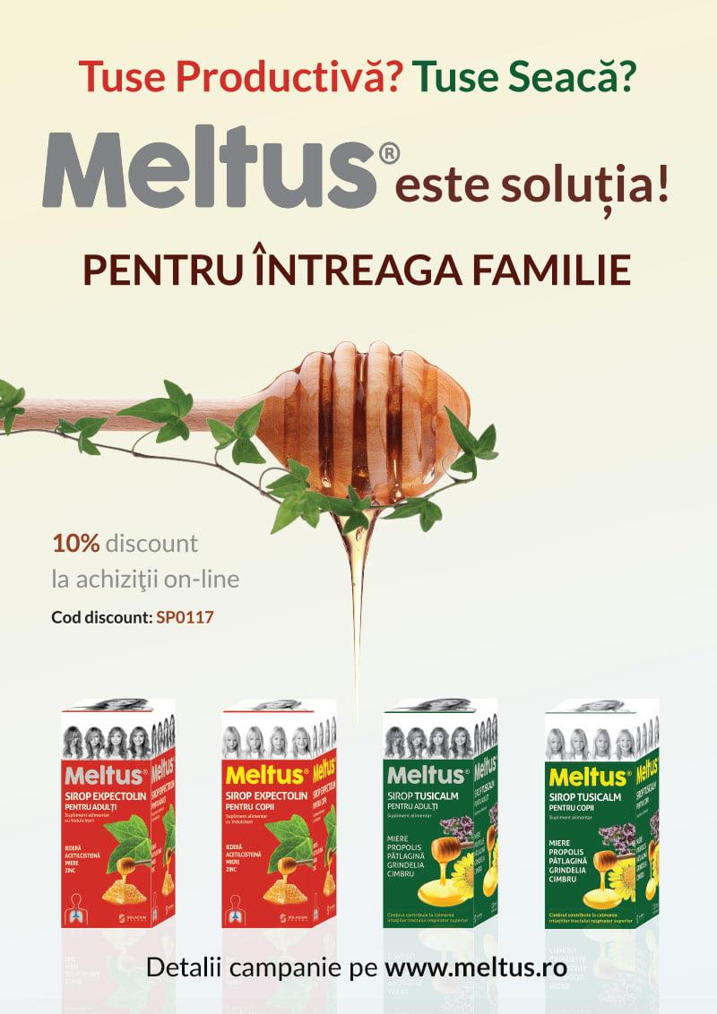 Gama de siropuri Meltus disponibila acum si online