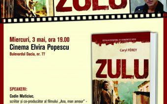 """CARYL FEREY, autorul romanului """"Zulu"""", își lansează volumul în România"""