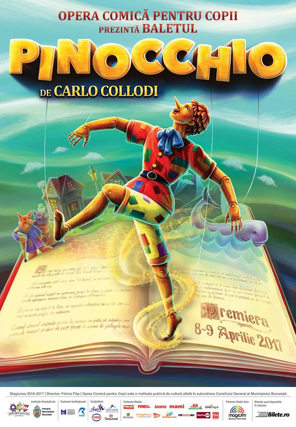 """Premieră de balet contemporan la Opera Comică pentru Copii: """"Pinocchio"""""""