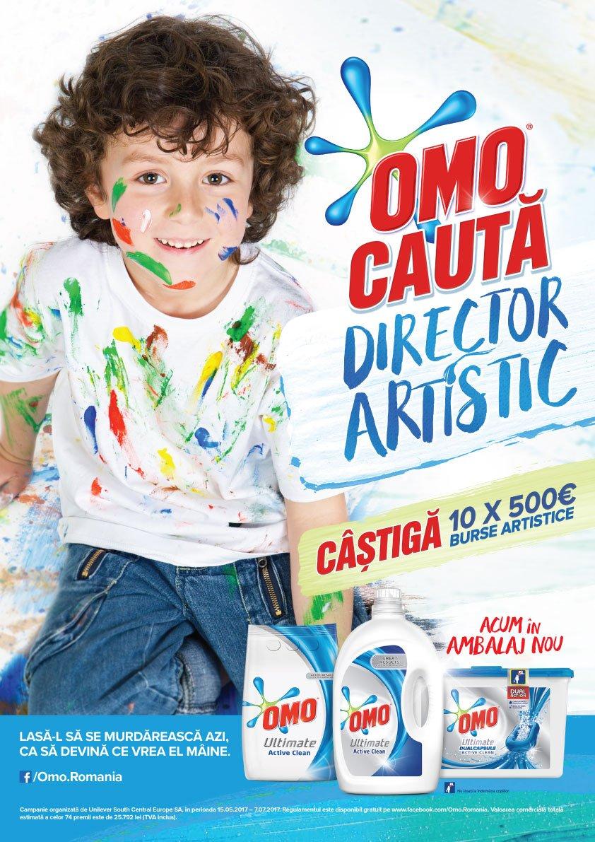 OMO caută cei mai creativi copii din ţară pentru funcţia de Director Artistic 10 câştigători vor primi câte o bursă artistică în valoare de 500 de euro