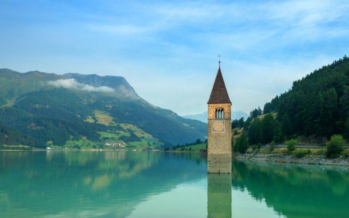 Lacul Reschen si Turnul lui Rapunzel