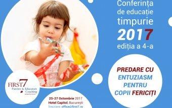 CONFERINȚA DE EDUCAȚIE TIMPURIE, EDIȚIA A 4-A