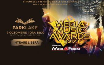 ParkLake găzduiește în premieră cea mai mare gală de premii muzicale din România - Media Music Award...