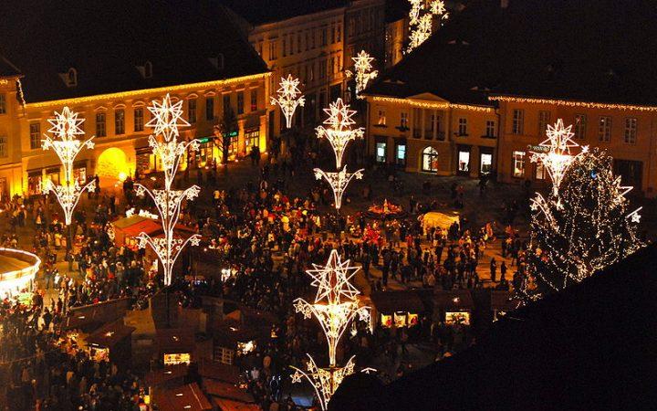 Sibiu – cel mai luminos targ din Romania