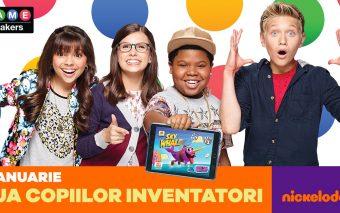 Ești un mic inventator? Testează-ți ideile în noul concurs Nickelodeon!