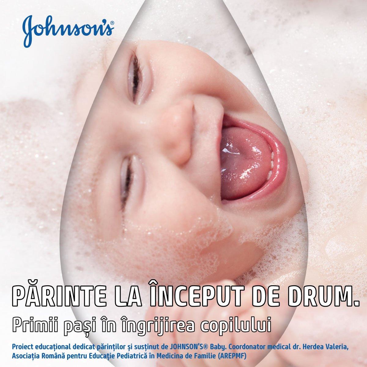 JOHNSON'S® Baby lansează în România un ebook despre igiena și îngrijirea copiilor cu vârsta de la 0 la 3 ani