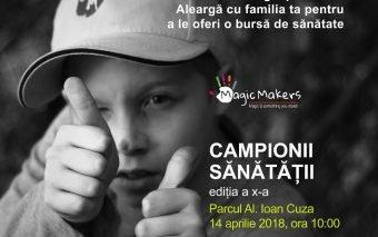 Copiii și părinții aleargă împreună la a X-a ediție a Campionilor sănătății