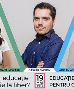 Gáspár György, Oana Moraru si Adrian Asoltanie – speakeri la evenimentul de educatie financiara pentru parinti - Liber la educatie sau educatie la liber? 2018