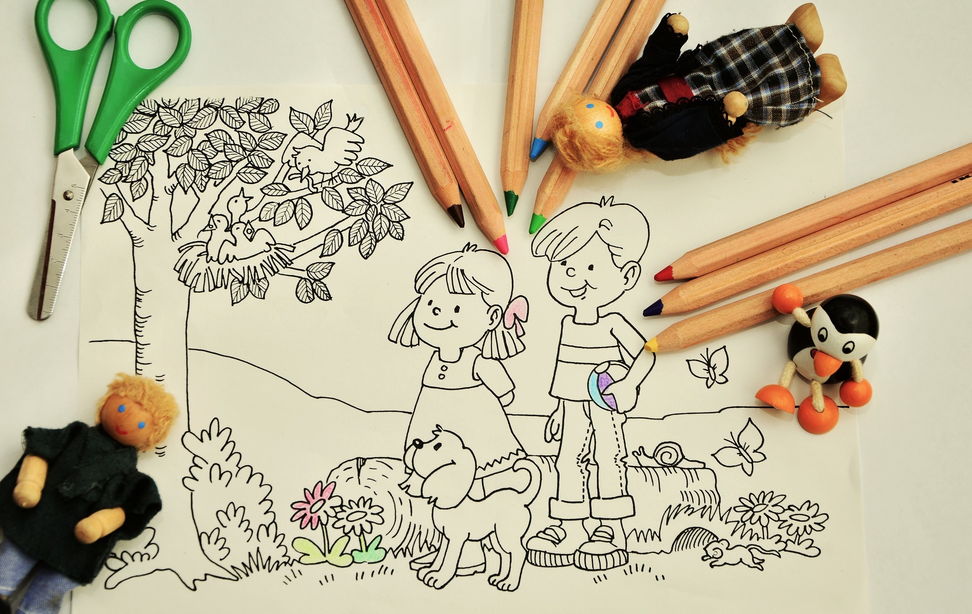 Copilului nu-i place să coloreze