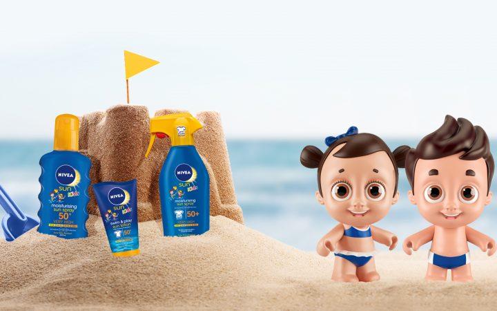În timpul verii, protecția solară este cea mai bună prietenă a copilului tău! Folosește NIVEA SUN Kids și distrați-vă fără griji