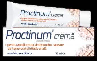 Proctinum cremă - un nou dispozitiv medical împotriva hemoroizilor!