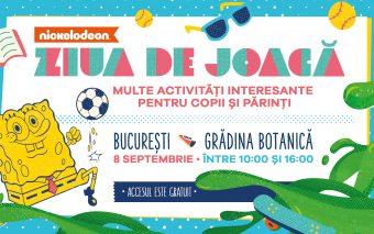 Nickelodeon organizează în România prima ediție a evenimentului Ziua de Joacă, o zi departe de televizor și tehnologie