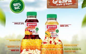 """Granini lansează combinația de sucuri de legume și fructe cu conținut de suc 100% - """"Granini din gră..."""
