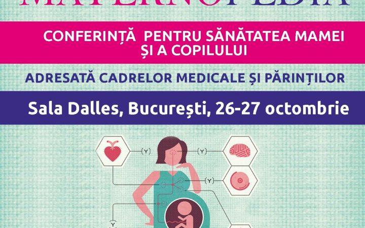 Asociația SAMAS vă invită la MATERNOPEDIA conferința pentru sănătatea mamei și a copilului