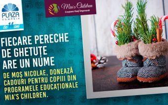 La Plaza România, ghetuțele copiilor din familii defavorizate sunt gata să primească cadouri de Moș ...
