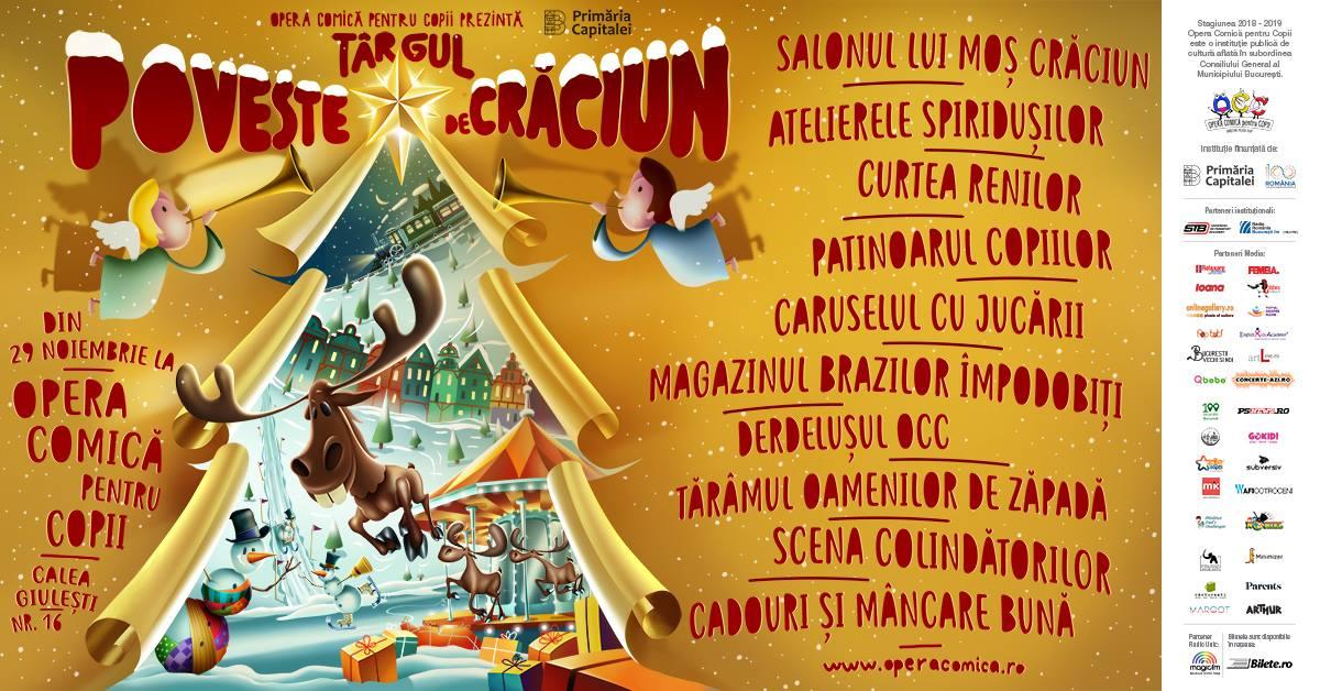 """Târgul ,,Poveste de Crăciun"""" se deschide peste trei zile la Opera Comică pentru Copii"""