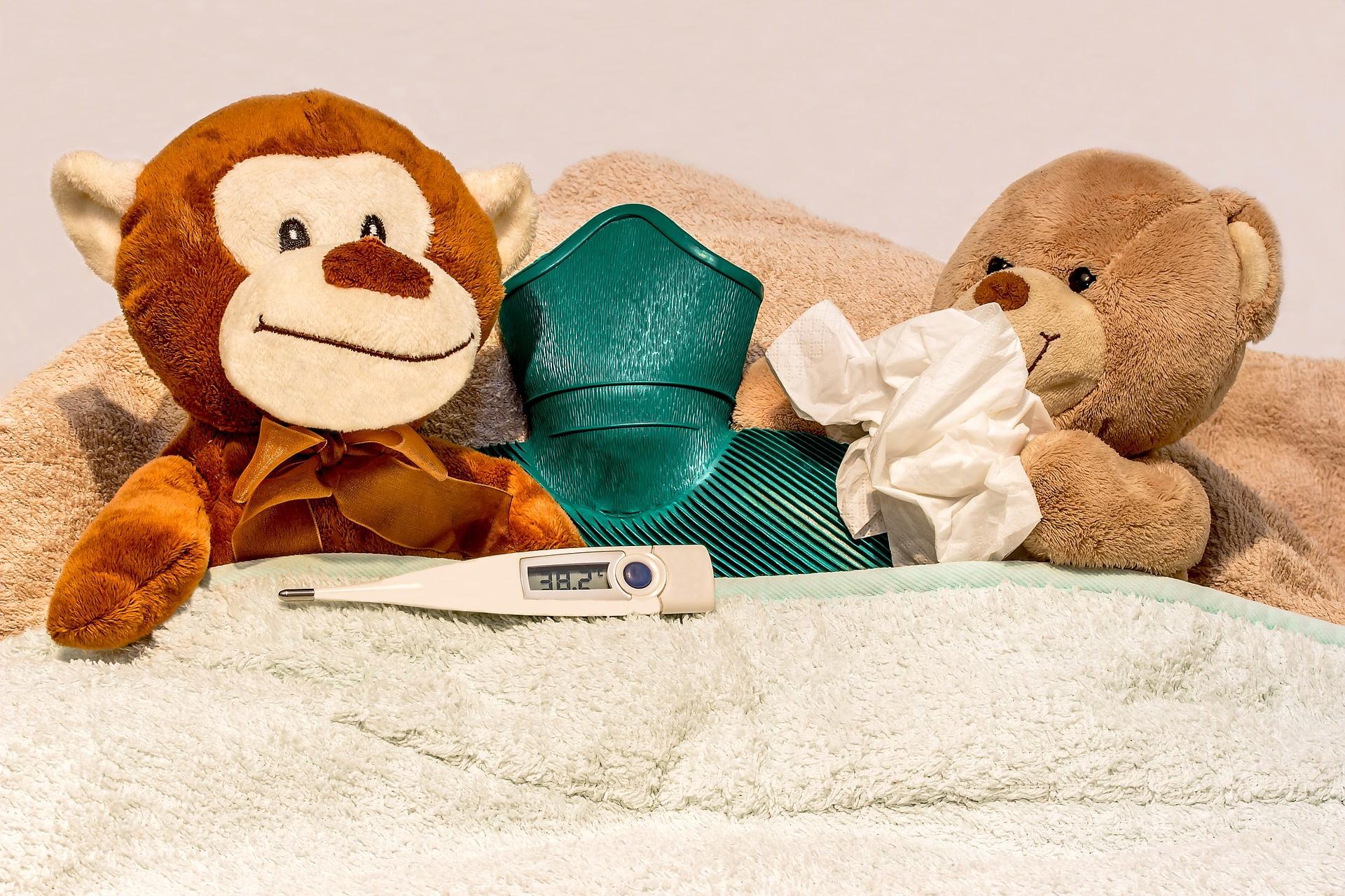 Diferența dintre răceală și gripă la copii