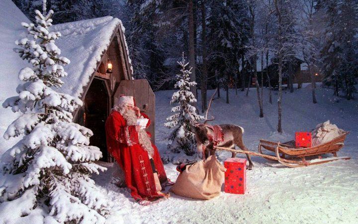 Crăciun alb în Laponia