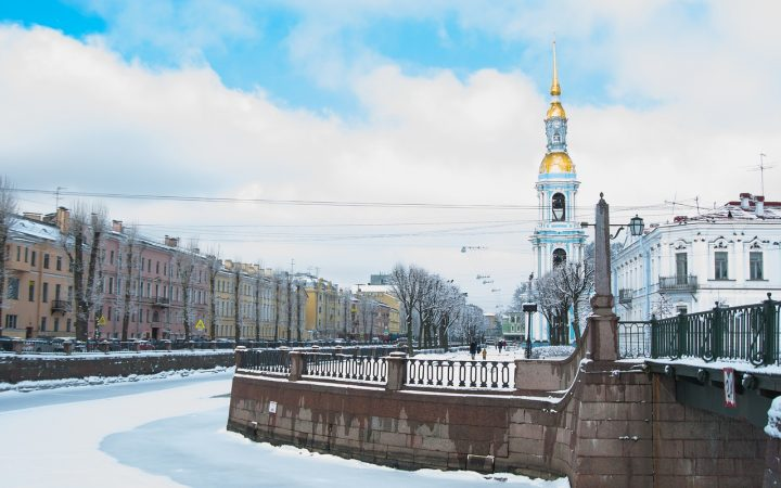 Crăciun alb în Sankt Petersburg