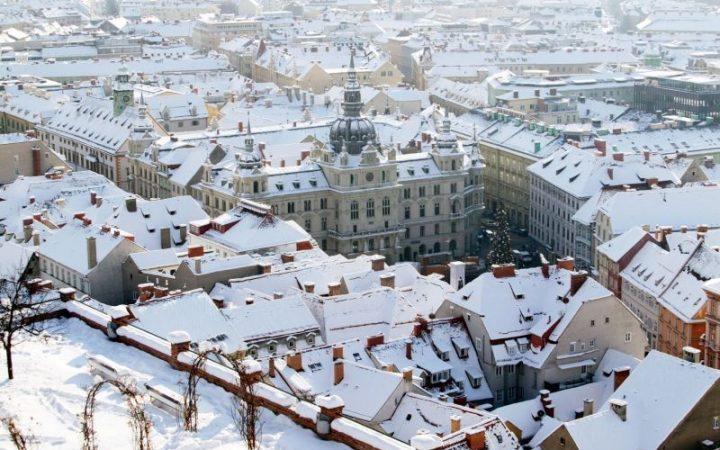 Crăciun alb în Graz