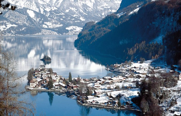 Crăciun alb în Interlaken