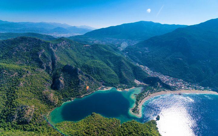 Plaje din Turcia. Oludeniz, plaja albă de la Laguna Albastră