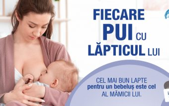 Fiecare pui cu lăpticul lui - o campanie pentru nutriția sănătoasă a bebelușului