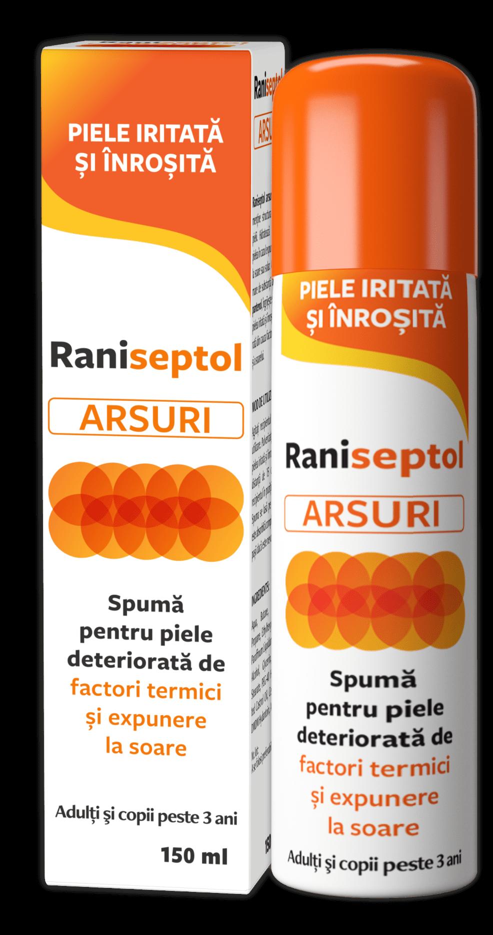 Raniseptol ARSURI – Aliatul tau impotriva arsurilor solare!