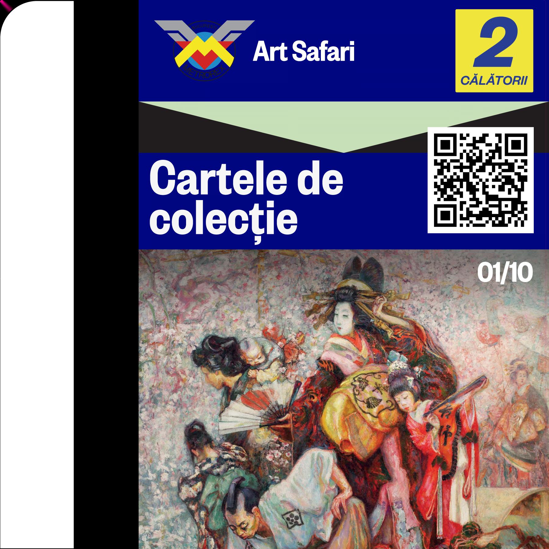 Art Safari și Metrorex lansează prima colecție de artă pe cartele de metrou